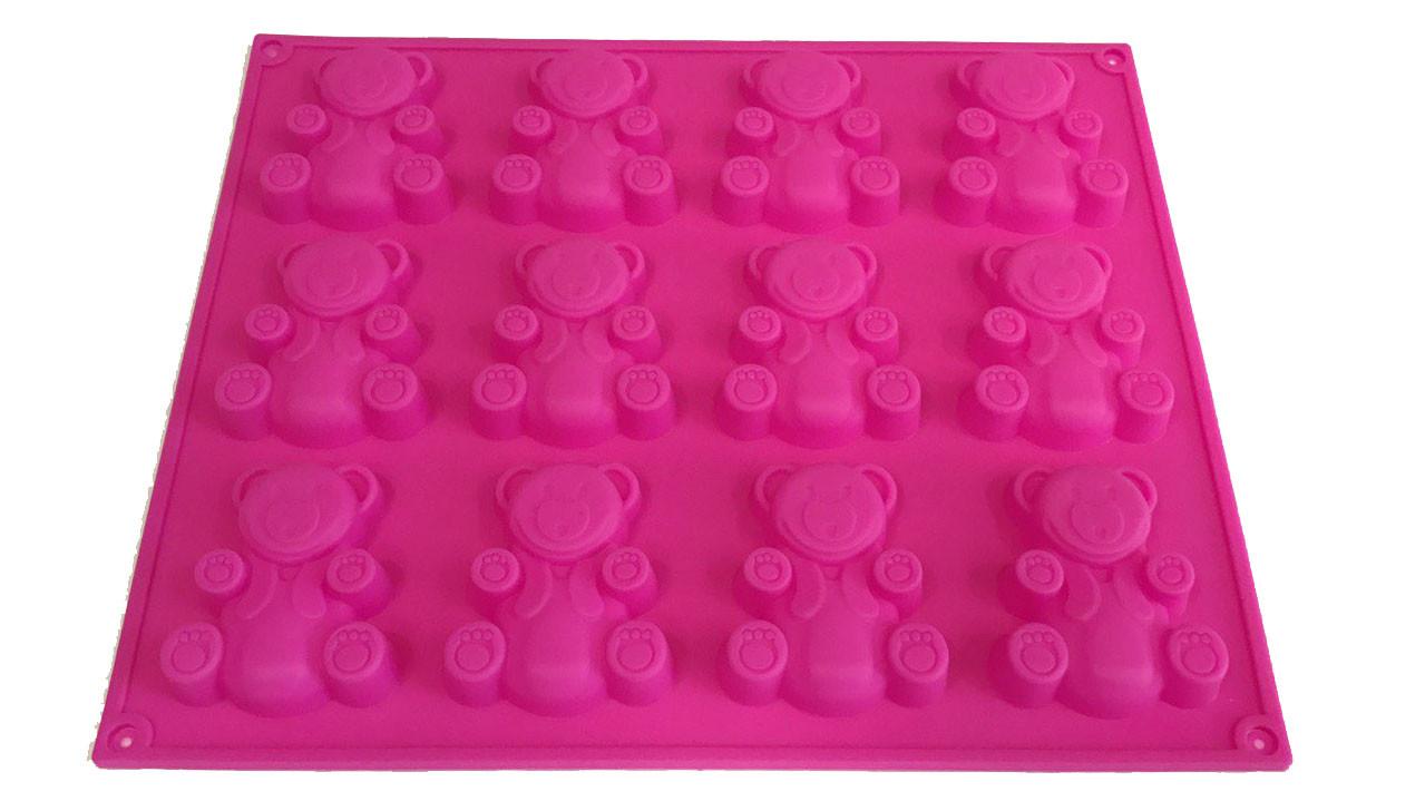 Форма силиконовая для выпечки Барни 12 шт на планшете