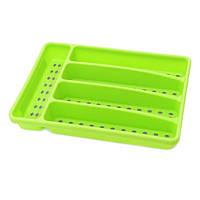 Лоток пластиковый для хранения столовых приборов 32х22,5х4,5см зеленый Fissman (CV-8860.CR)