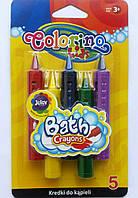 Мел для ванной, 5 цветов, Colorino, 67300