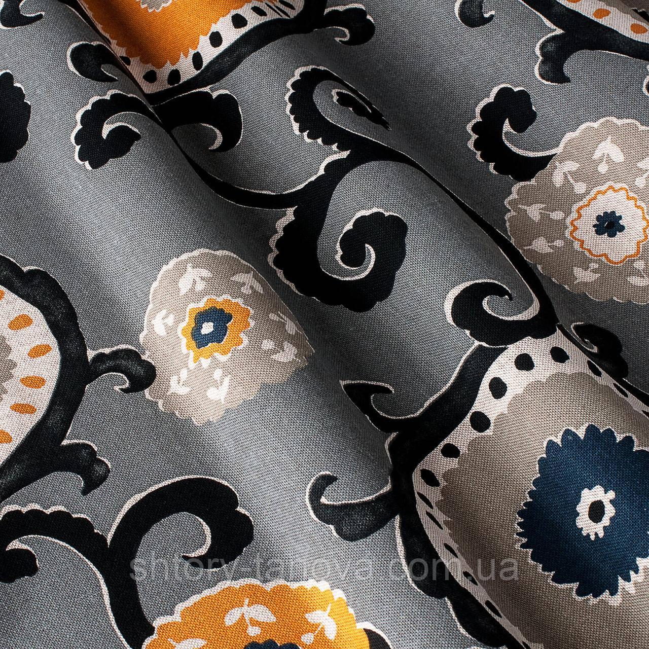Декоративная ткань принт клетка