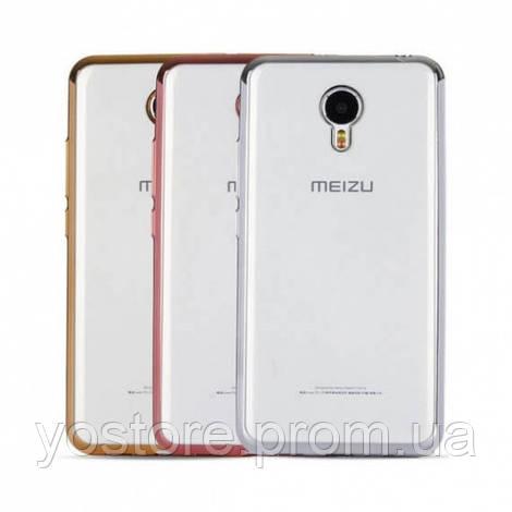 Прозрачный силиконовый чехол для Meizu M5 Note с глянцевой окантовкой