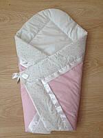 Конверт Одеяло для девочек  весна лето осень 80х80см розовый