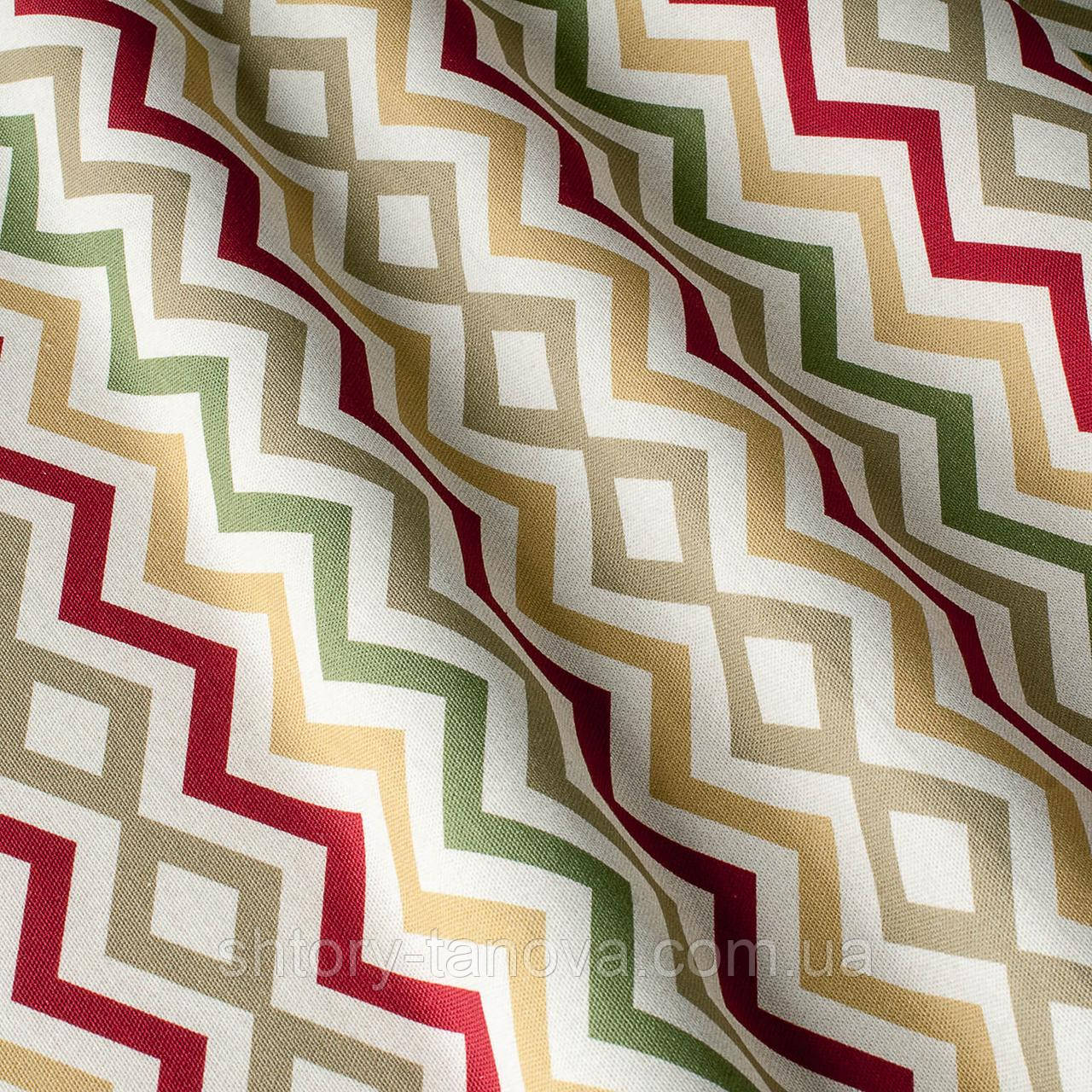 Декоративная ткань принт узор