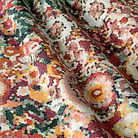 Декоративная ткань принт мозаика