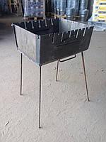 Мангал чемодан обычный (6 шампуров)