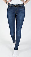 Классические женские джинсы на болтах зауженные New Sky 8511 28