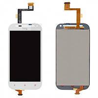 Дисплей (экран) для HTC C520e One SV/C525e/T528t + с сенсором (тачскрином) белый Оригинал