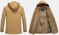 Мужская зимняя куртка с капюшоном. Модель 6156, фото 3