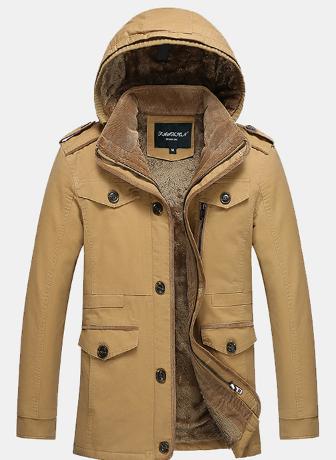 Мужская зимняя куртка с капюшоном. Модель 6156