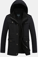 Мужская зимняя куртка с капюшоном. Модель 6156, фото 5