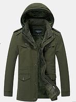Мужская зимняя куртка с капюшоном. Модель 6156, фото 6