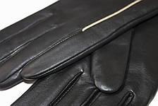 Женские кожаные черные перчатки Сенсорные Большие LYNN-1691s3, фото 3