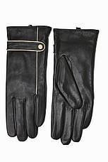 Женские кожаные черные перчатки Сенсорные Большие LYNN-1691s3, фото 2