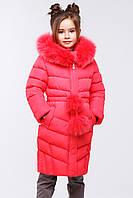 Длинное детское зимнее пальто с натуральным мехом Лиз нью вери (Nui Very) в Украине по низким ценам