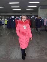 Длинное зимнее пальто с натуральным мехом на подростка  Лиз нью вери (Nui Very) в Украине по низким ценам
