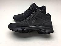Мужские ботинки ECCO черные нубук