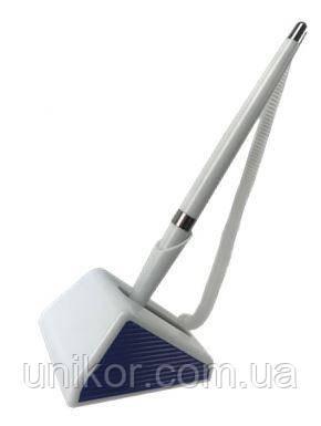 """Ручка с подставкой, """"DESK PEN"""", шнур-спираль, белый корпус. BuroMax"""
