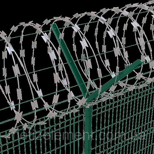 Спиральное колючее ограждение 600/3, растяжка min/max 6/9,5/11 пог.м. (егоза)