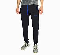 Черные мужские спортивные трикотажные штаны с манжетами DARIO BIACHI