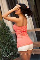 """Блузка """"Прошва корсет"""" в расцветке, фото 2"""