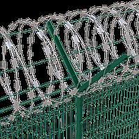 Спиральное колючее ограждение 900/3, растяжка min/max 11/13,5/14 пог.м. (егоза)