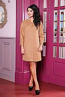 Женское пальто прямого силуэта