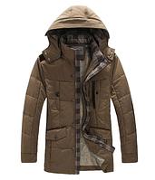 Мужская зимняя куртка с капюшоном. Модель 6157