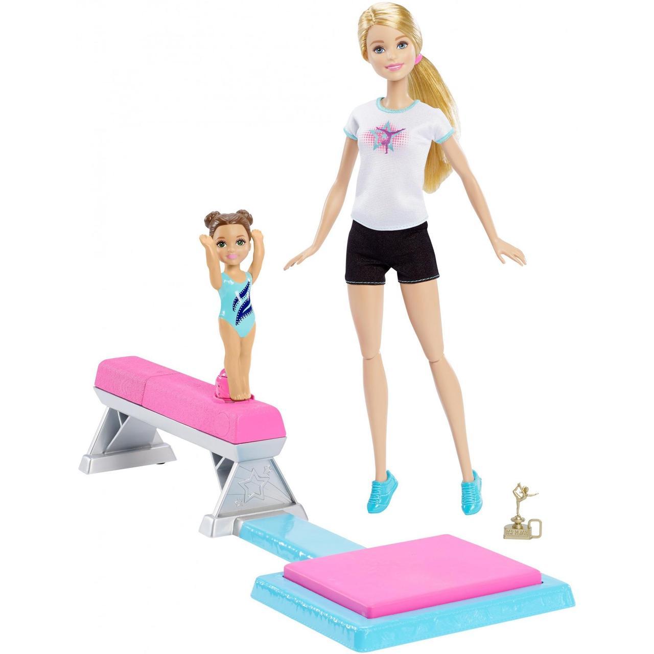 Кукла Барби гимнастка и её ученица
