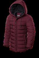 Мужской бордовый зимний пуховик (р. 48-56) арт. 8806D
