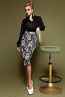 Юбка-карандаш Шолли комбинированный Jadone Fashion 42-48 размеры