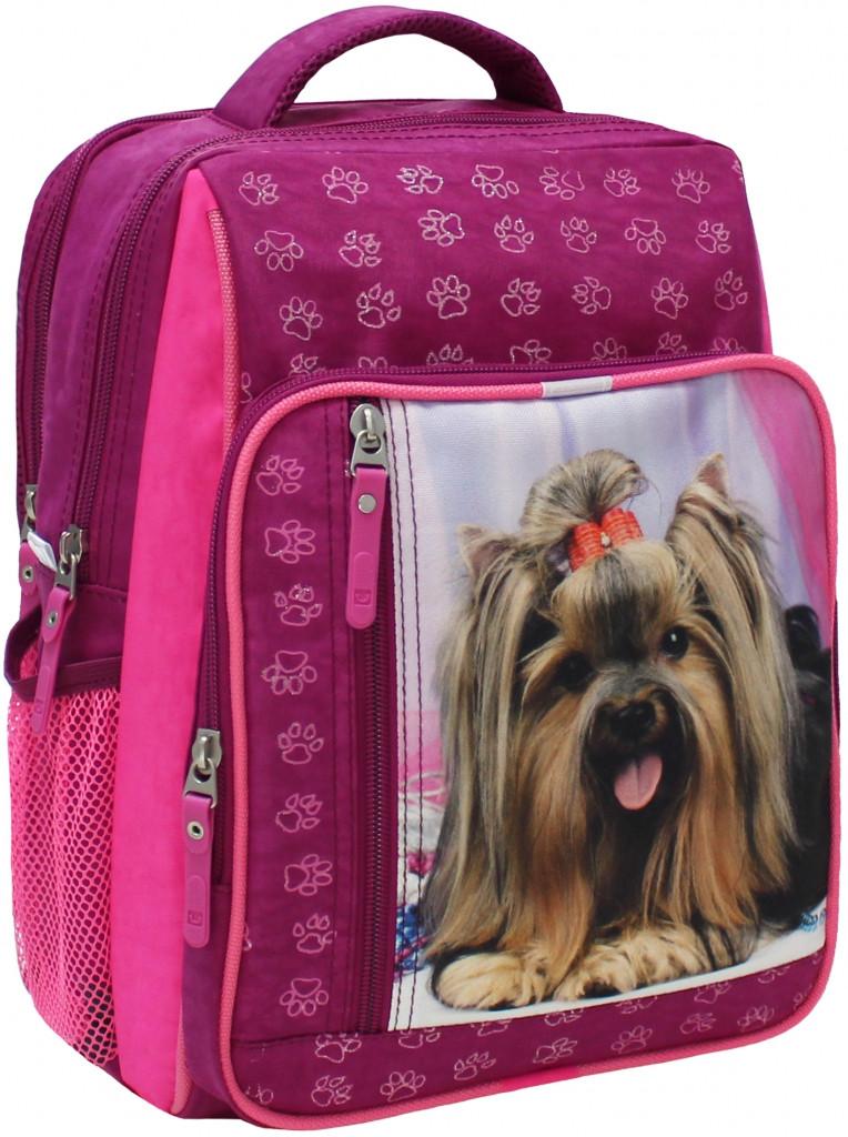 Школьный рюкзак для девочки с собачкой