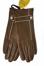 Женские Коричневые перчатки Shust LYNN-1692, фото 3