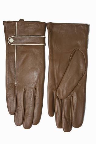 Женские кожаные Коричневые перчатки Shust Маленькие LYNN-1692s1, фото 2