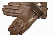 Женские кожаные Коричневые перчатки Shust Маленькие LYNN-1692s1, фото 3