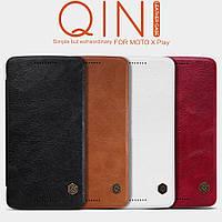Кожаный чехол (книжка) Nillkin Qin Series для Motorola Moto X Play (XT1562)