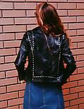 Женская стильная черная куртка-косуха , фото 2