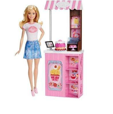 Barbie Bakery Owner Doll and Playset Барби из серии Профессии. Продавец пирожных (Барбі продавець тістечок)