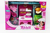 Кухня игрушечная, кухонный комбайн, овощи делятся на 2 части, посуда, A308