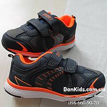 Детские синие кроссовки для мальчика с оранжевыми вставками Том.м р. 28,30,31,32