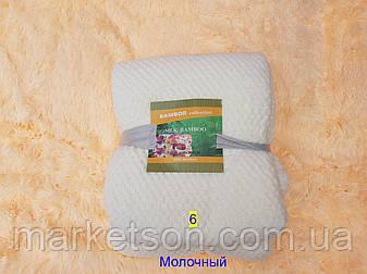 Простынь махровая из бамбука 180*220. Молочный., фото 2