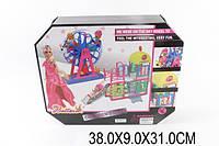 Мебель Аттракцион с куклой шарнирной, маленькая куколка, горка, колесо обозрения, 66843