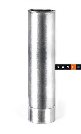 Труба для дымохода с нержавеющей стали термоизоляционная двустенная, L= 0,3 м, 400/460, 0.5 мм, AISI 201, фото 2