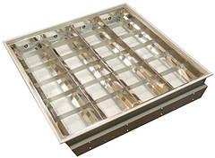 Светильник растровый встраиваемый с зеркальной  решеткой (ЛВО)