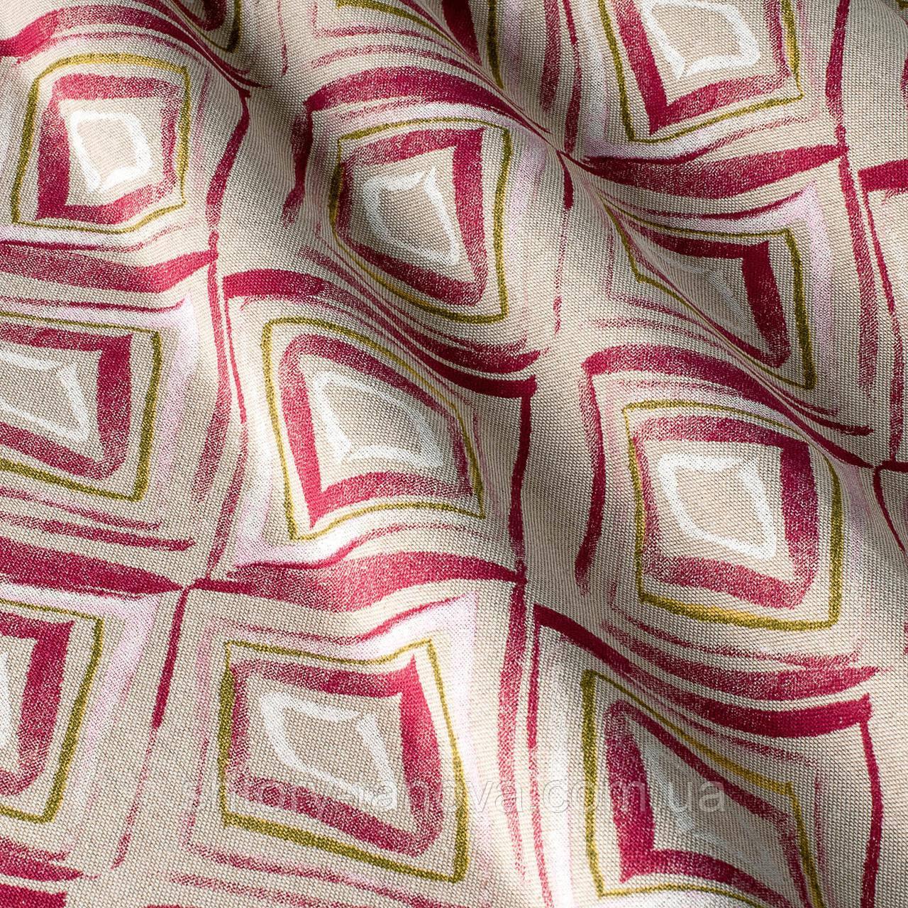 Декоративная ткань с геометрическим принтом, ромбик
