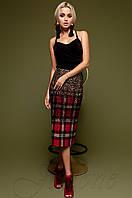 Юбка-карандаш Шолли красный Jadone Fashion 42-48 размеры