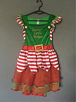 Рождественское платье Маленькая помощница Санты