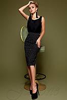 Юбка-карандаш Шолли черный Jadone Fashion 42-48 размеры