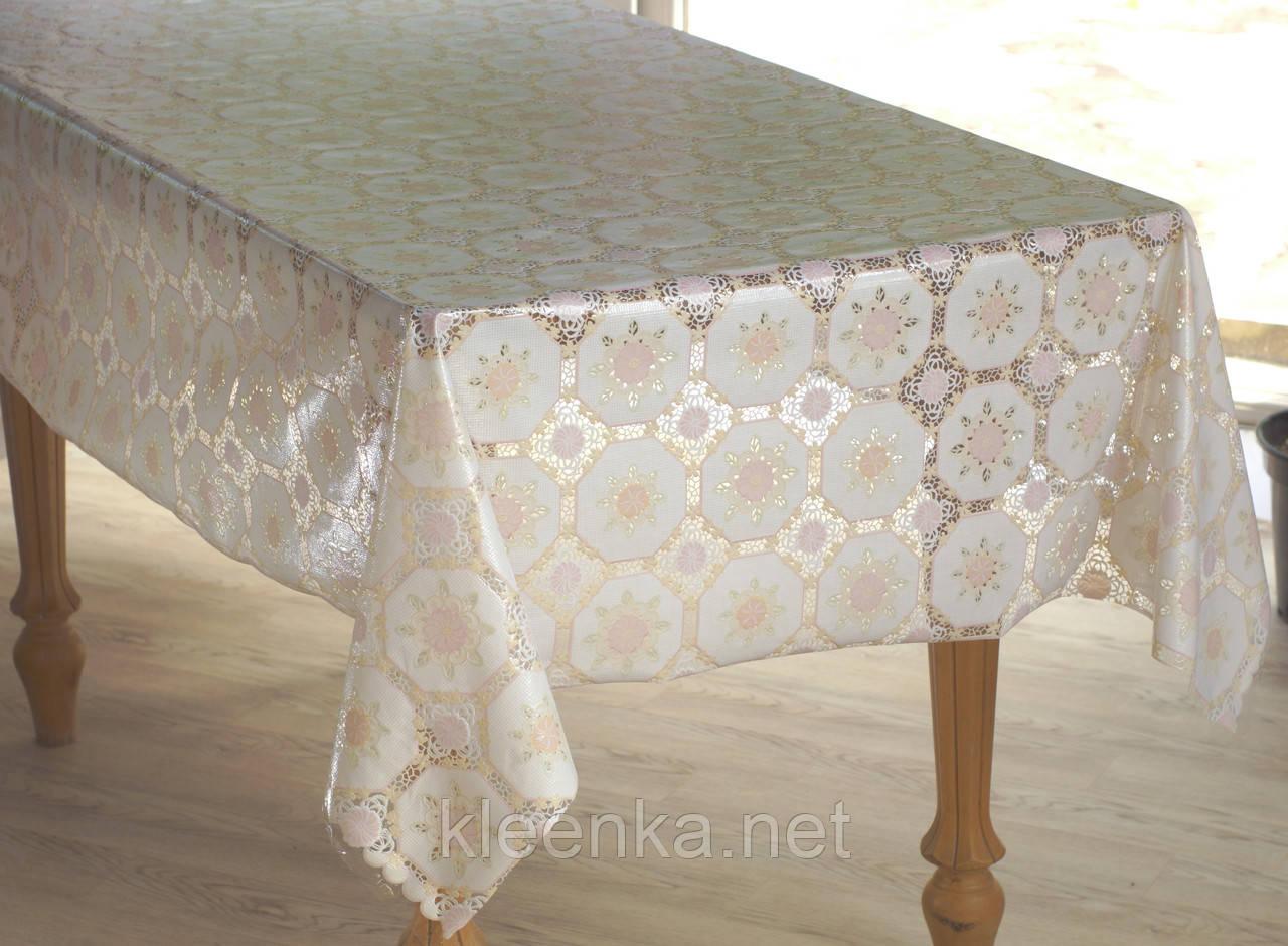 Клеенка для стола Ажур Лейс, очень нежная и красивая