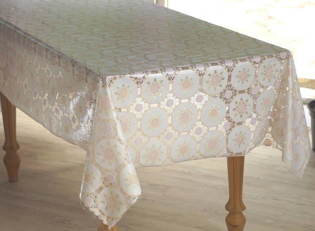 Клеенка для стола Ажур Лейс, очень нежная и красивая, фото 2