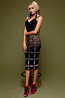 Юбка-карандаш Шолли темно-синий Jadone Fashion 42-48 размеры